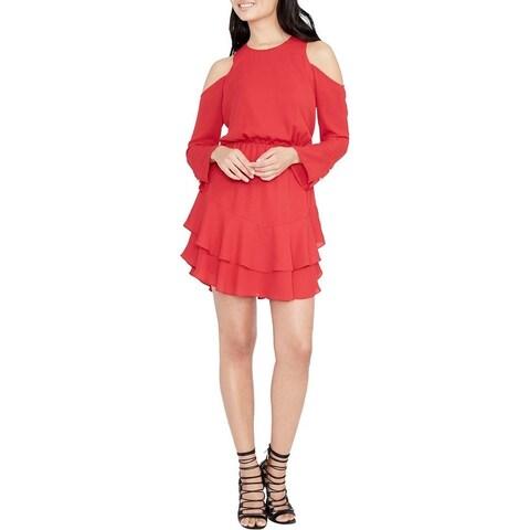 Rachel Rachel Roy Womens Coco Casual Dress Cold Shoulder Blouson