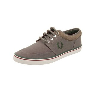 Fred Perry Mens Stratford Canvas Sneakers in Mid Grey