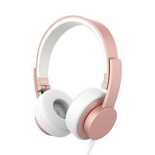 Urbanista Seattle Wired Headphones in Rose Gold, Foldable, Design For Life