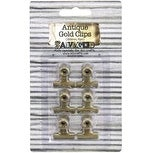 Gold - Antique Bull Clips 22Mm 6/Pkg