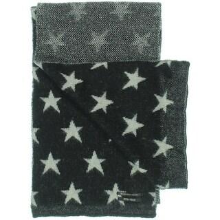 Maison Scotch Mens Punk Radar Mohair Blend Star Print Winter Scarf - o/s