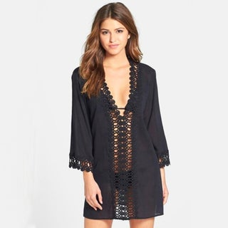Floral Lace Tunic Cover Up in 4 Colors