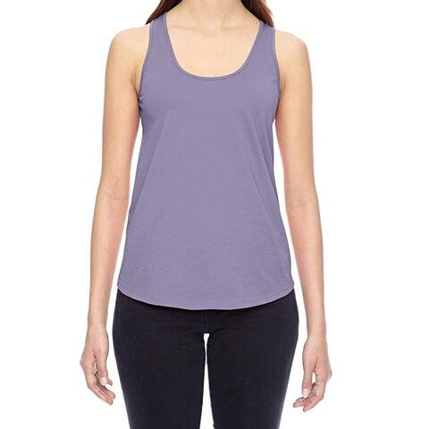 Alternative Purple Womens Size Small S Scoop-Neck Racerback Tank Top