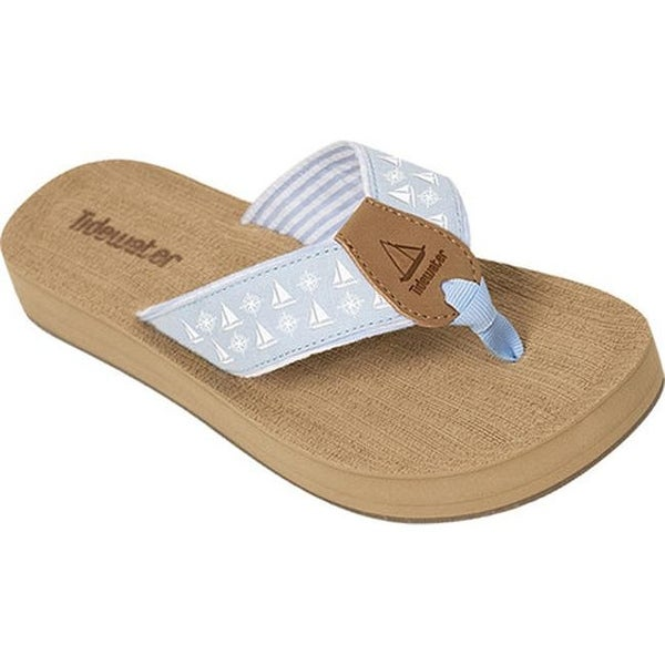 c87f20c7b91d Shop Tidewater Sandals Women s Harbor Flip Flop Blue White Sails - Free  Shipping On Orders Over  45 - Overstock - 15060422
