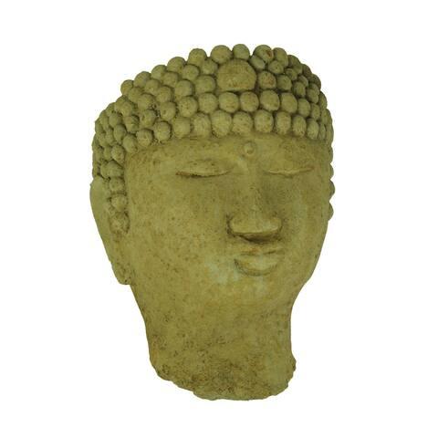 Designer Stone Harvest Yellow Buddha Head Concrete Wall Mounted Planter - 11 X 8 X 5.5 inches