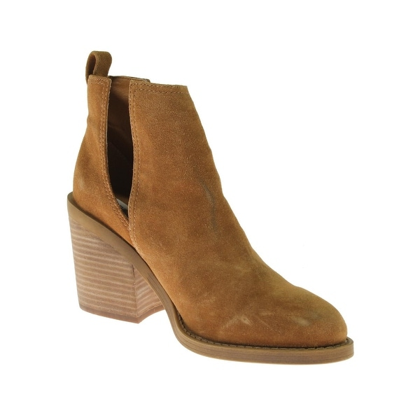 Steve Madden Womens Sharini Ankle Boots Suede Cut-Out