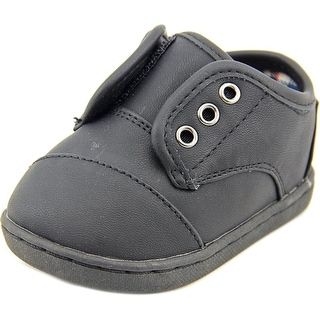 Toms Paseo Infant Round Toe Synthetic Black Sneakers