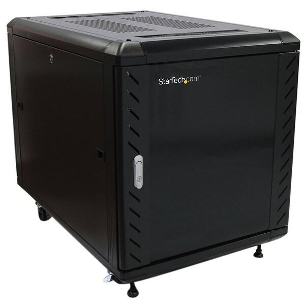 "Startech Rk1236bkf 12U 36"" Knock-Down Server Rack Cabinet With Casters Server Rack 12U 36In Cabinetn."