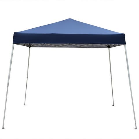 2.5 x 2.5m Portable Home Use Waterproof Folding Tent Blue/White