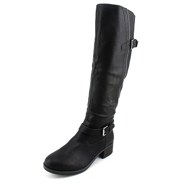 Style & Co Gayge Women Round Toe Synthetic Black Knee High Boot