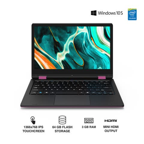 Core Innovations CLT1164PN 2 in 1 Touch Laptop 11.6in