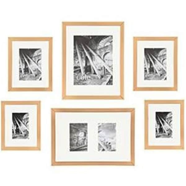 Shop Copper Metallic Wall Hanging Gallery Art Photo Picture Frames ...