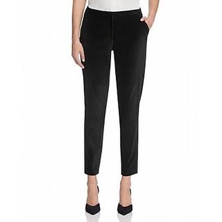 T Tahari NEW Black Womens Size 12 Slim Ankle Velvet Tina Dress Pants