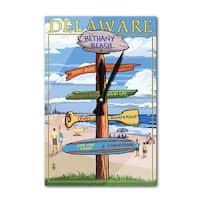 Bethany Beach, DE - Dest Sign - LP Artwork (Acrylic Wall Clock) - acrylic wall clock