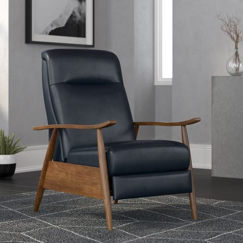 Sienna Wood Arm Push Back Recliner by Greyson Living