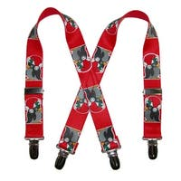 CTM® Infant Christmas Penguin Print Holiday Suspenders