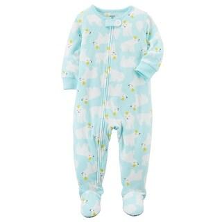 Carter's Little Girls' 1-Piece Polar Bear Fleece PJs, 5-Toddler - Polar Bear