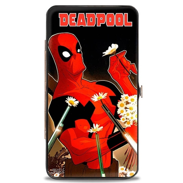 Marvel Universe Deadpool Issue #12 Picking Daisies Variant Cover Pose Hinge Wallet - One Size Fits most