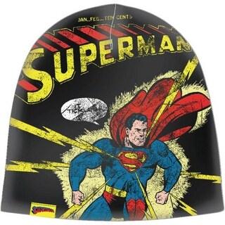 Superman Distressed Print Beanie Knit Cap