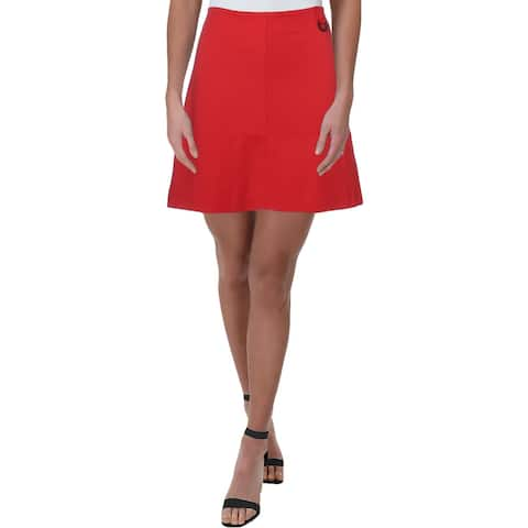 Kenneth Cole Womens A-Line Skirt Ponte Knit Stretch
