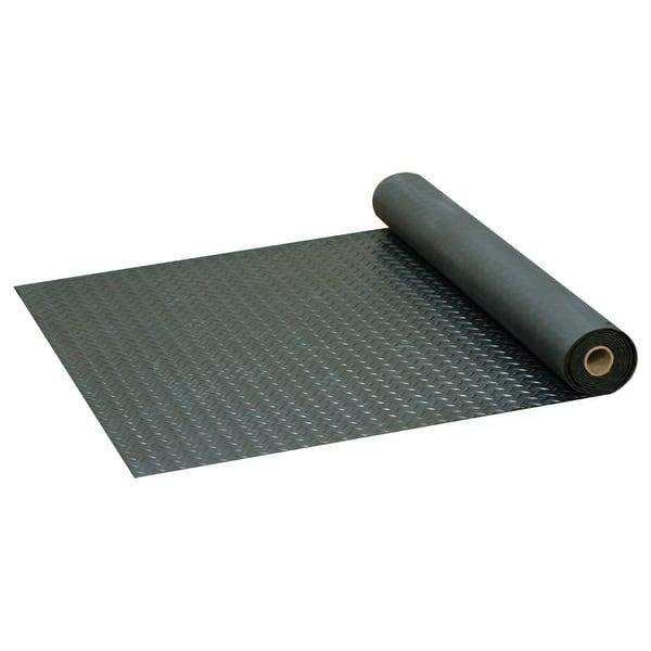 Black Goodyear Coin-Pattern Rubber Flooring 3.5mm x 36 x 10ft