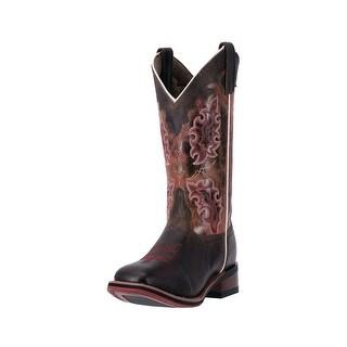 "Laredo Western Boot Womens 11"" Stockman Heel Brandy Distressed 5645"