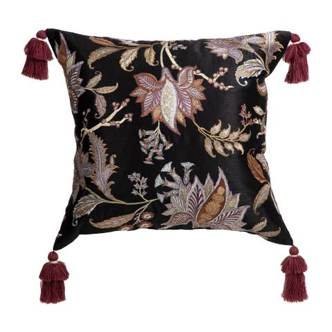 """Arden Selections Home 20"""" Throw Pillow - Vintage Black Tropical"""