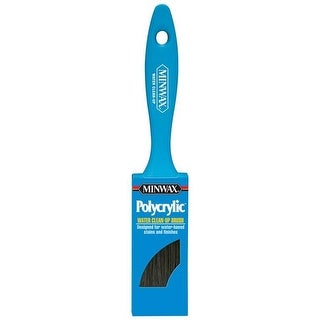 Minwax 1624253 2 in. Polycrylic Flat Nylon Polyester Paint Brush