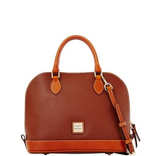 Dooney & Bourke Pebble Grain Zip Zip Satchel (Introduced by Dooney & Bourke at $198 in Jan 2014) - Amber|https://ak1.ostkcdn.com/images/products/is/images/direct/678016a864a2e8d787987c50c7dbaf3e38a9d690/Dooney-%26-Bourke-Pebble-Grain-Zip-Zip-Satchel-%28Introduced-by-Dooney-%26-Bourke-at-%24198-in-Jan-2014%29.jpg?_ostk_perf_=percv&impolicy=medium