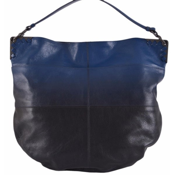 Shop Bottega Veneta Blue Black Ombre Leather Large Hobo Purse Handbag - On  Sale - Free Shipping Today - Overstock.com - 12190176 77b72952e2