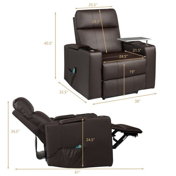 Shop Costway Massage Recliner Chair Home Theater Seating w