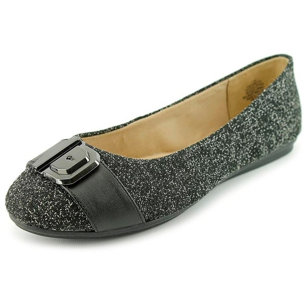 37341ee28c88 Shop Easy Spirit e360 Gianetta Women W Round Toe Canvas Black Flats ...