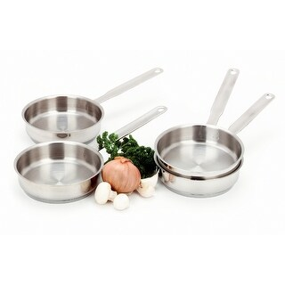 Demeyere Resto 4-pc Stainless Steel Mini Fry Pan Set - STAINLESS STEEL