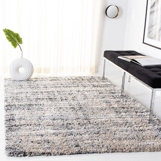Link to Safavieh Fontana Shag Geanina Modern Abstract 2-inch Thick Rug Similar Items in Shag Rugs