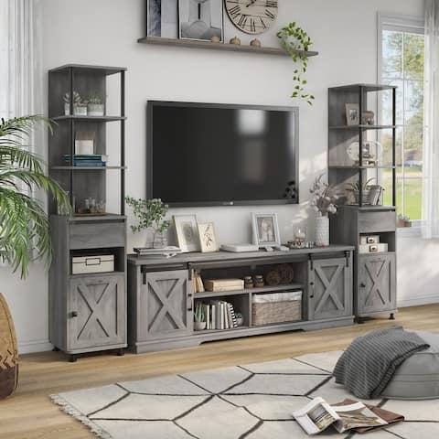Charles Modern Farmhouse Vintage Grey TV Stand