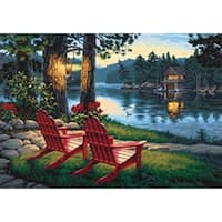 "Adirondack Evening - Paint Works Paint By Number Kit 20""X14"""