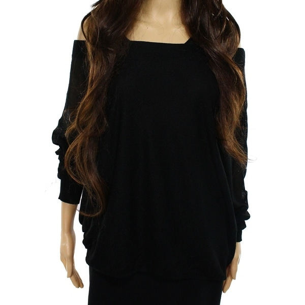 2f6a8b3fe5a33 Shop Free People NEW Black Women s Size XS Ribbed Trim Boat Neck Sweater -  Free Shipping On Orders Over  45 - Overstock - 18397865