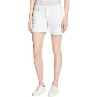 DL1961 Womens Karlie Casual Shorts Denim Destroyed