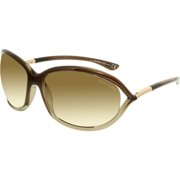 a47a1a61834 Shop Tom Ford Women s Jennifer FT0008-38F-61 Brown Square Sunglasses ...