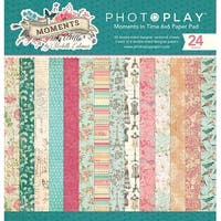 """Photoplay Double-Sided Paper Pad 6""""X6"""" 24/Pkg-Moments In Time, 8 Designs/3 Each"""