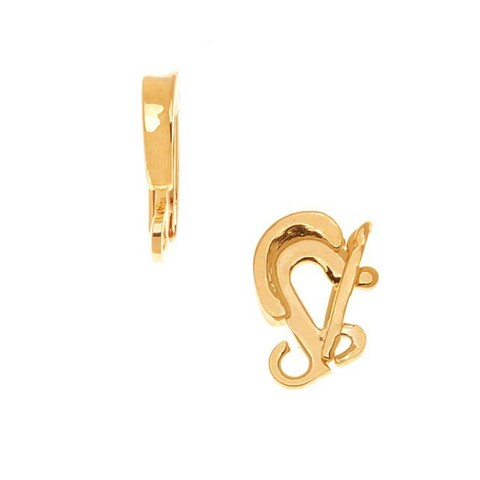 23K Gold Plated Clasp Bail For Hanging Pendants 15x3mm (1)