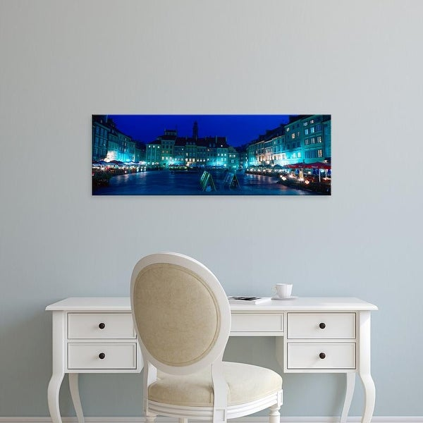 Easy Art Prints Panoramic Images's 'Buildings in old town, Warsaw, Poland' Premium Canvas Art