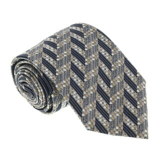 Missoni U5097 Silver/Gold Chevron 100% Silk Tie - 60-3