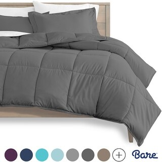 Link to Bare Home Hypoallergenic All-Season Down Alternative Comforter Set Similar Items in Comforters & Duvet Inserts
