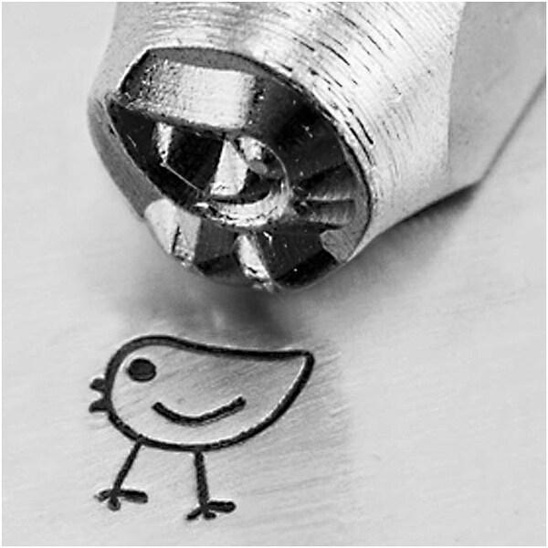 ImpressArt Metal Punch Stamp 'Chickadee' 6mm (1/4 Inch) Design - 1 Piece