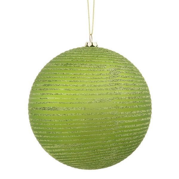 """8"""" Lime Matte-Glitter Ball"""