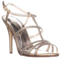 Caparros Groovy Embellished Evening Sandals, Gold Metallic