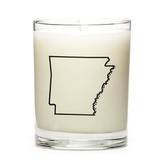 State Outline Candle, Premium Soy Wax, Arkansas, Fresh Linen