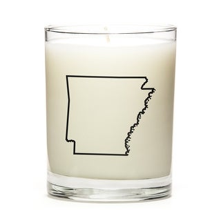 State Outline Soy Wax Candle, Arkansas State, Toasted Smores