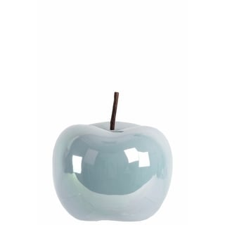 Amazingly Crafted Apple Figurine- Small- Blue- Benzara